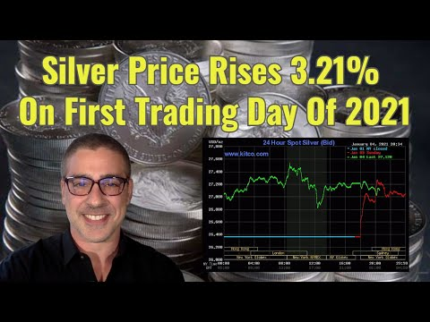 Silver Price Rises 3.21% On First Trading Day Of 2021