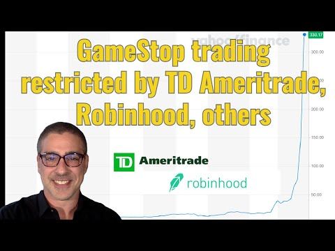 GameStop trading restricted by TD Ameritrade, Robinhood, others