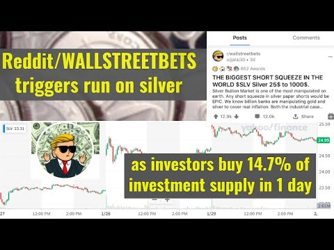 Reddit/WALLSTREETBETS triggers run on silver, as investors buy 14.7% of investment supply in 1 day