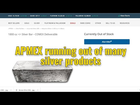 APMEX running out of many silver products