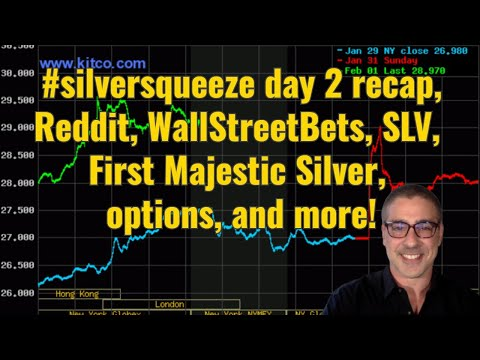 #silversqueeze day 2 recap, #Reddit, #WallStreetBets, SLV, First Majestic Silver, options, and more!