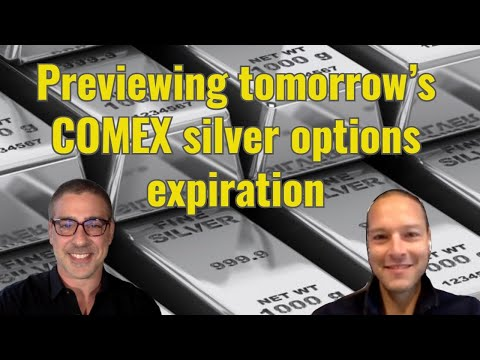 Previewing tomorrow's COMEX silver options expiration