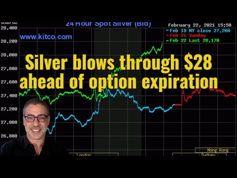 Silver blows through $28 ahead of option expiration