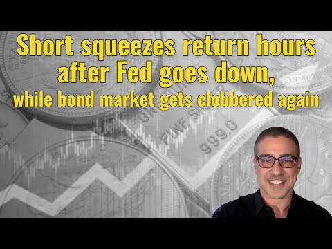 Short squeezes return hours after Fed goes down, while bond market gets clobbered again