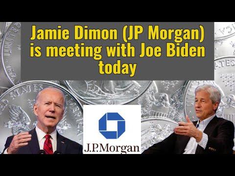 Jamie Dimon (JP Morgan) is meeting with Joe Biden today