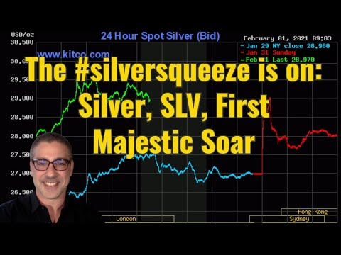 The #silversqueeze is on: Silver, SLV, FIrst Majestic Soar