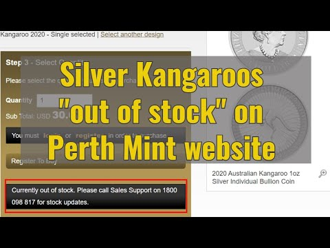 "Silver Kangaroos ""out of stock"" on Perth Mint website"