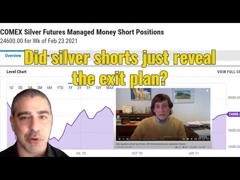 Did the silver shorts just reveal their exit plan?