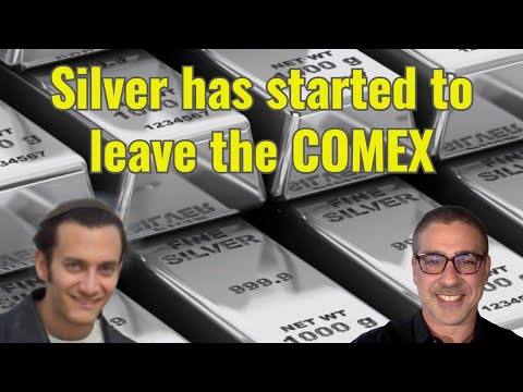 Silver has started to leave the COMEX