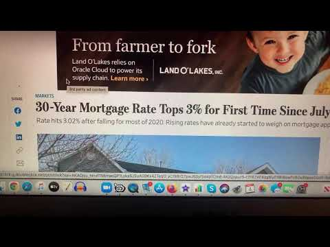 30-year mortgage rate breaks through 3% level