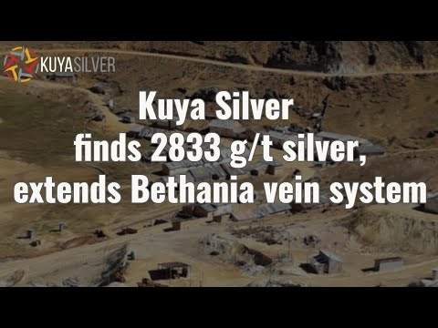 Kuya Silver finds 2833 g/t silver, extends Bethania vein system