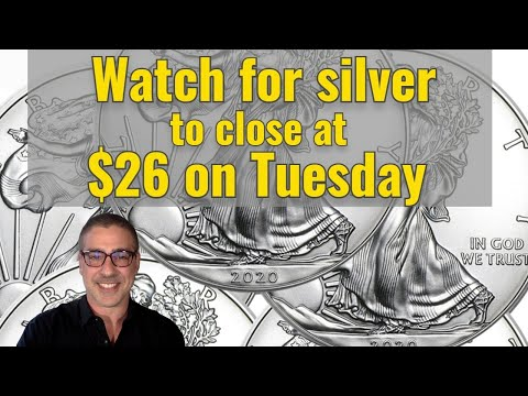 Watch for silver to close at $26 on Tuesday