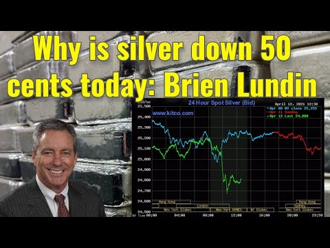 Why is silver down 50 cents today: Brien Lundin