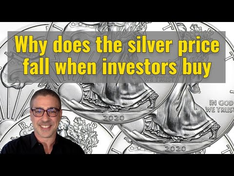 Why does the silver price fall when investors buy