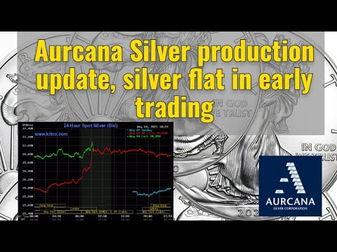Aurcana Silver production update, silver flat in early trading