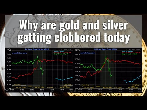Why are gold and silver getting clobbered today