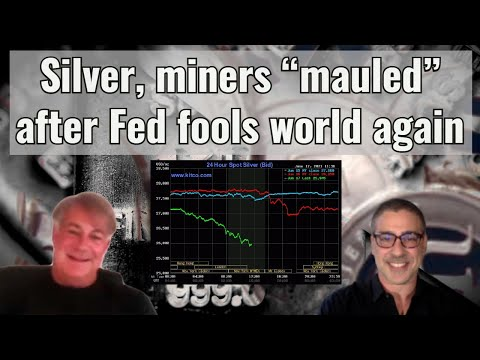 """Silver, miners """"mauled"""" after Fed fools world again"""