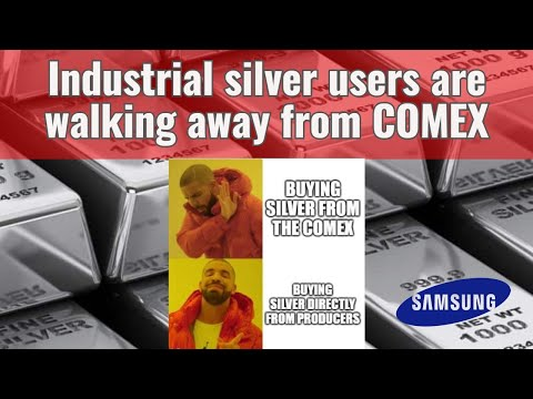Industrial silver users are leaving the COMEX