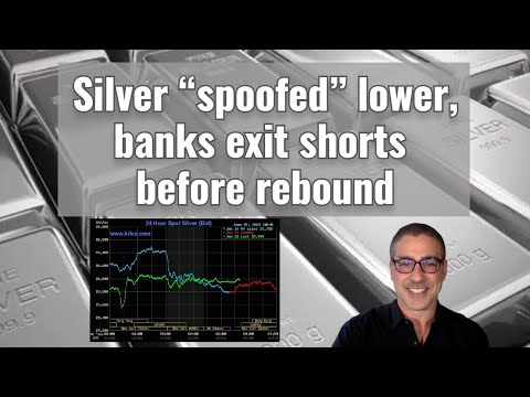 """Silver """"spoofed"""" lower, banks exit shorts before rebound"""