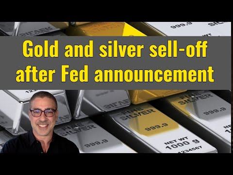 Gold, silver, and miners sell off after Fed announcement