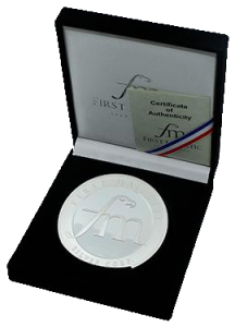 First Majestic 10 ounce Proof Strike Silver Medallion