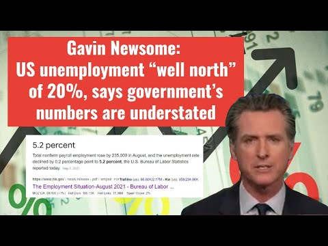 """Gavin Newsome: US unemployment """"well north"""" of 20%, says government's numbers are understated"""